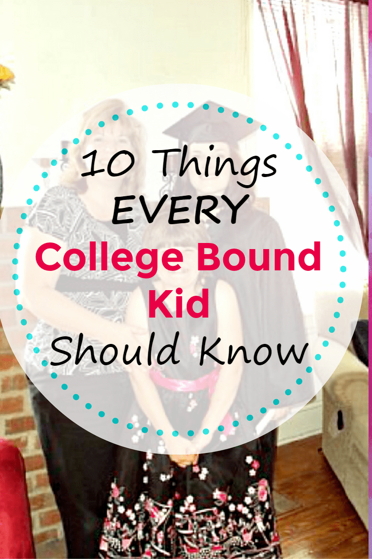 Do you have a high school senior going to college in the fall? Be sure to share these Important Things College Bound Kids Should Know