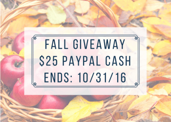 Fall Giveaway | $25 PayPal Cash