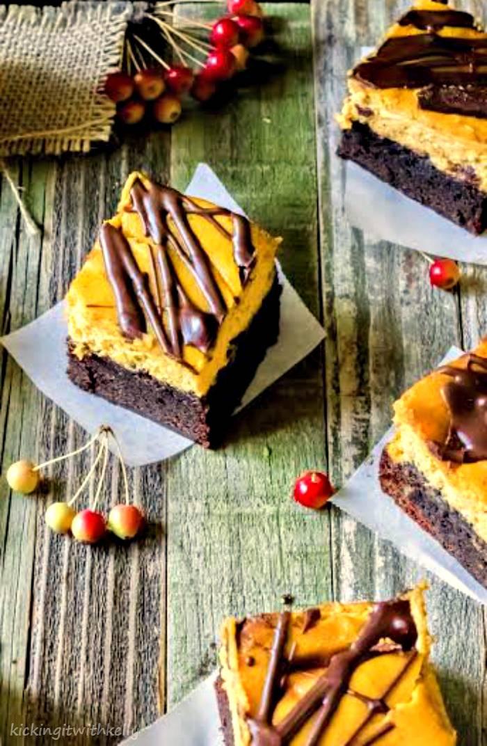Double Chocolate Chip Pumpkin Cheesecake Brownies 3