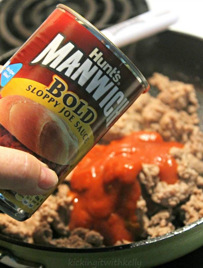 Manwich Sloppy Joe Taco Ring Recipe sauce