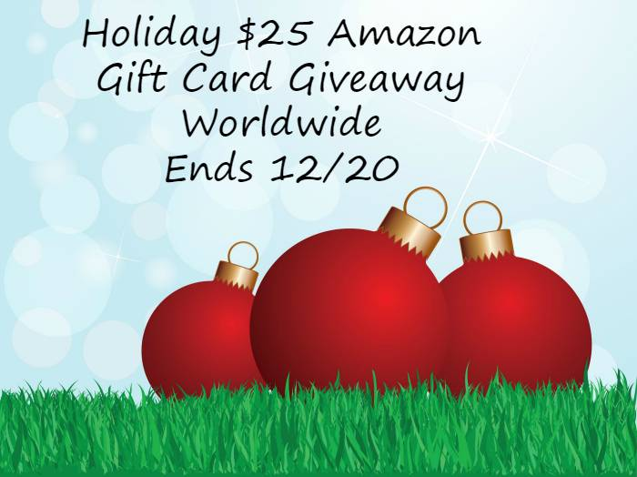 Holiday $25 Amazon Gift Card Giveaway