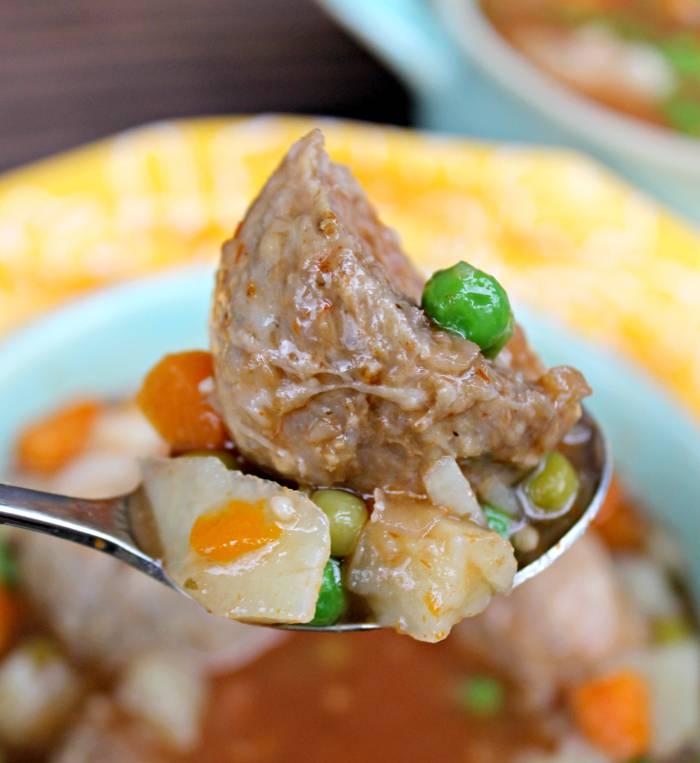 Skinny Slow Cooker Meatball Soup Recipe 4