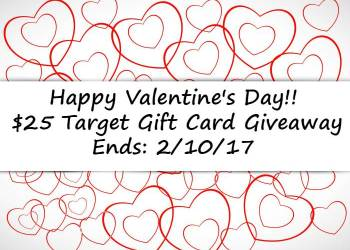 Happy Valentine's Day $25 Target Gift Card Giveaway