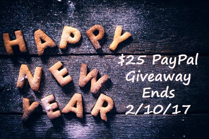 Happy New Year! $25 PayPal Cash Giveaway