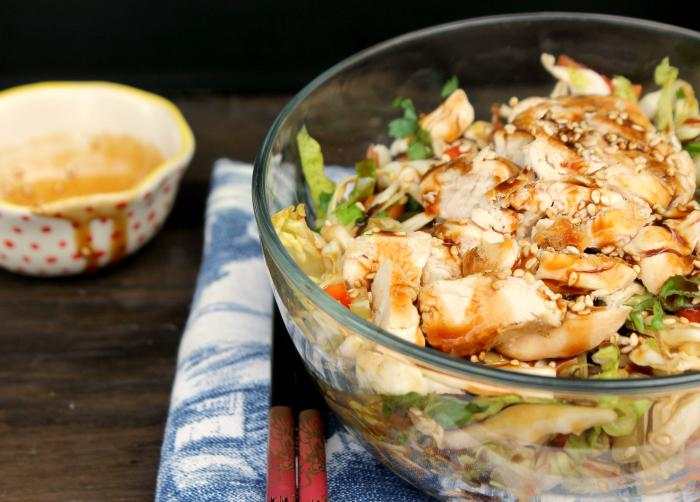 Healthy Meal Idea | Grilled Thai Chicken Chopped Salad