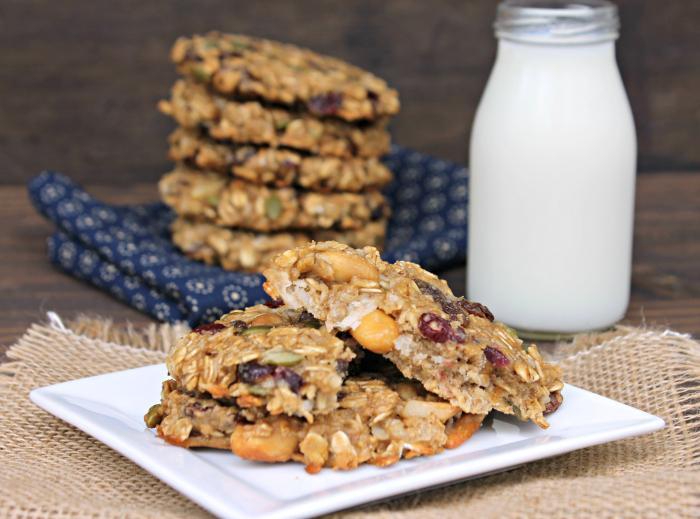 Vegan Protein Breakfast Cookie Recipe style shot