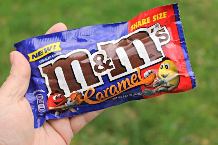 New M&M'S® Caramel close up