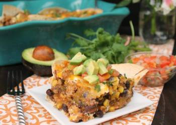 30 Minute Layered Turkey Enchilada Casserole. 4