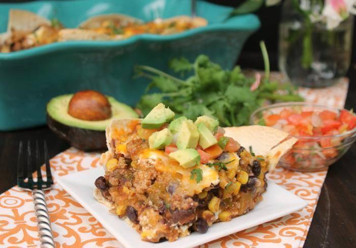 30 Minute Layered Turkey Enchilada Casserole. 4