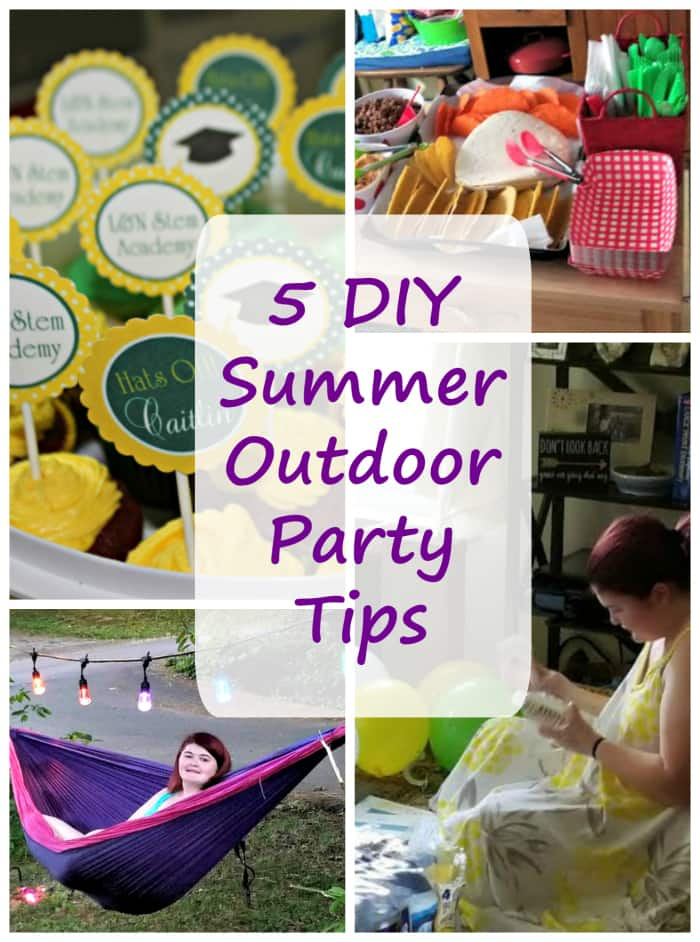 Want to throw a fun summer party on a budget? You will want to see which of my five best DIY summer outdoor party tips will save you the most! #ad #ColorCafeLights @jascoproducts
