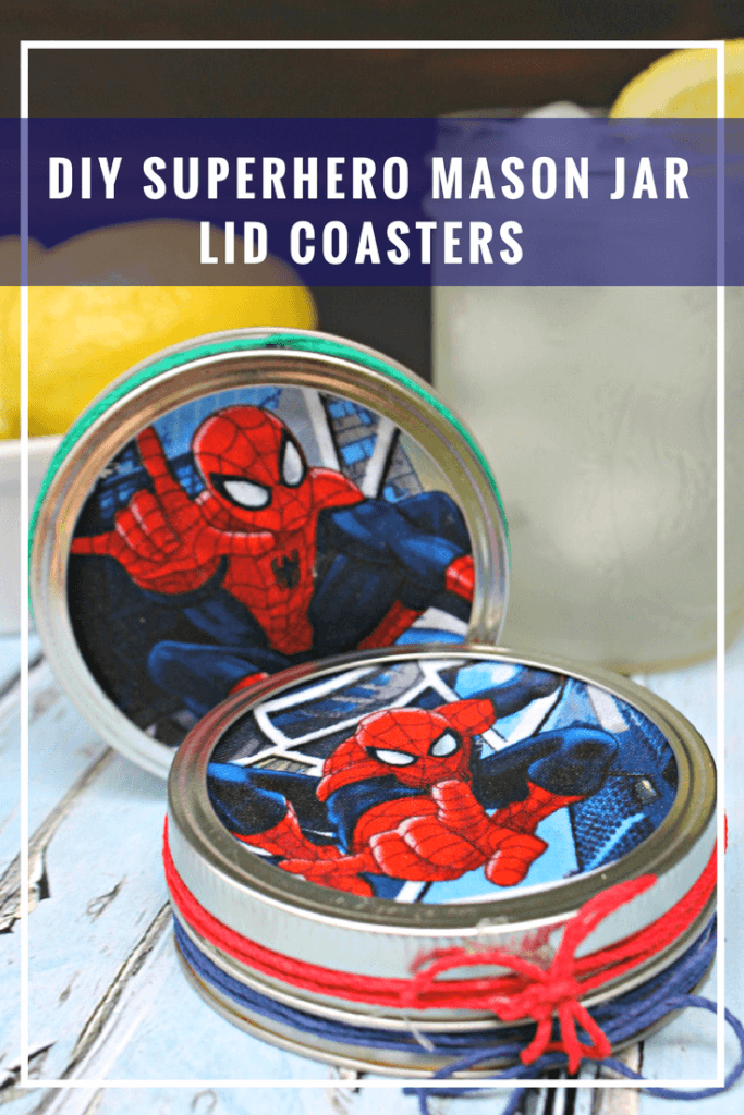 It's always the little details that make a party or special occasion memorable. That's why handmade gifts are such a hit. Like these DIY Superhero Mason Jar Lid Coasters for dad.