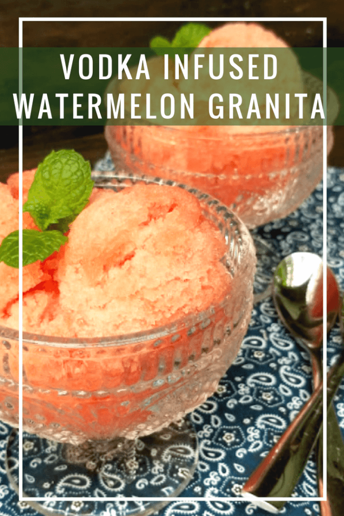 msg. 21+ When it comes to summer entertaining, I love to make a signature cocktail or dessert. For my Vodka Infused Watermelon Granita, I combined the two! #ad @SVEDKA