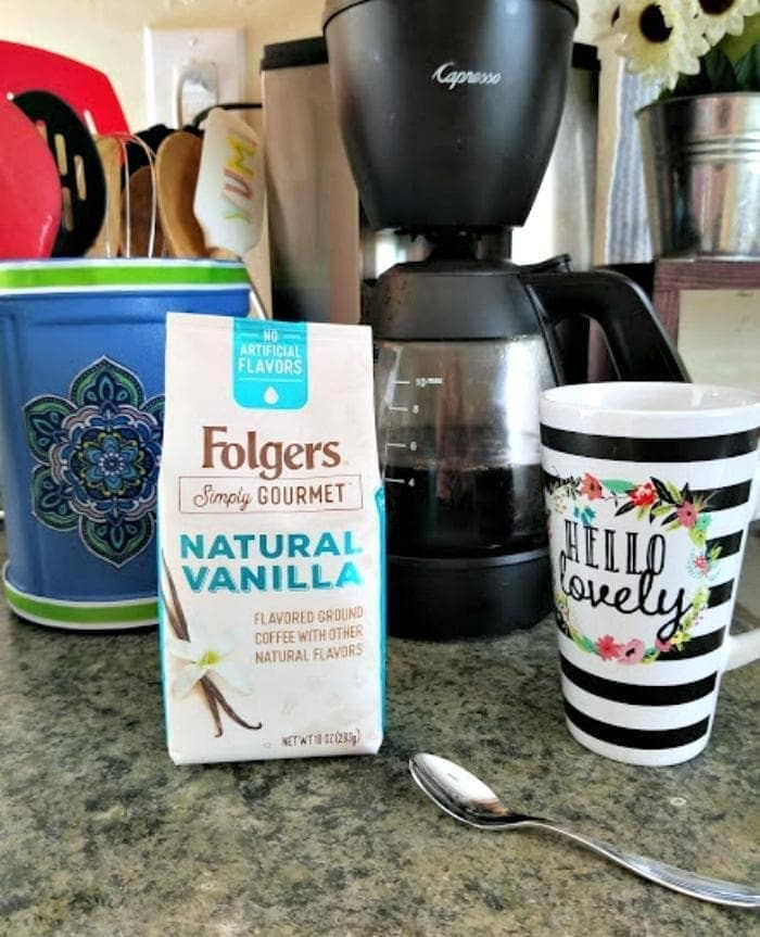 DIY Decoupage Coffee Container Utensil Holder coffee