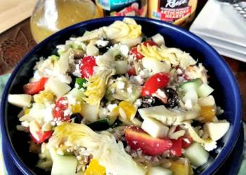 Mediterranean Orzo Salad With Homemade Citrus Vinaigrette salad 1
