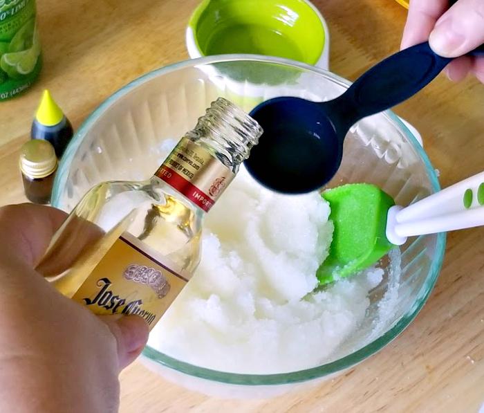 Homemade Margarita Lime Essential Oil Body Scrub step 6