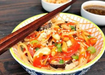 30 Minute Vegetarian Spicy Thai Noodles Recipe