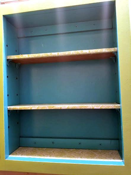 Easy $15 DIY Medicine Cabinet Makeover shelves