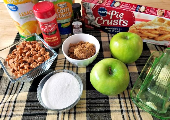 Mini Sea Salt Caramel Apple Pies ingredients