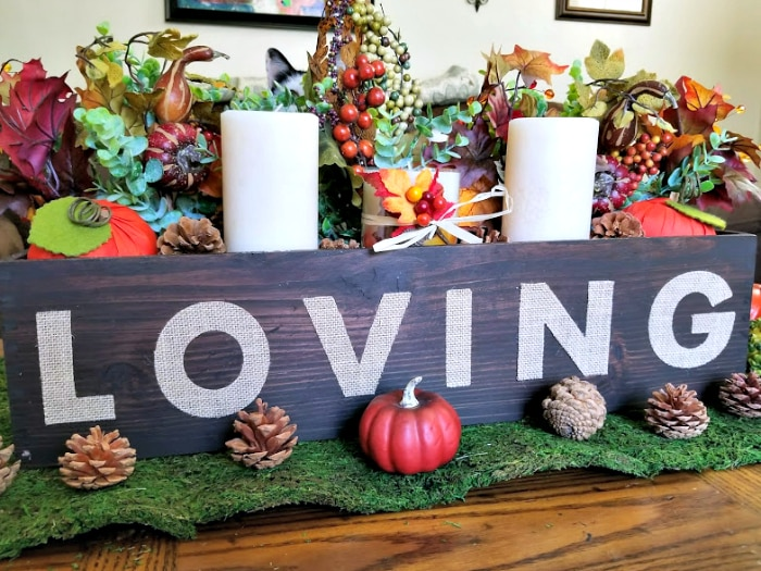 Easy Rustic Fall Or Thanksgiving Table Centerpiece 3