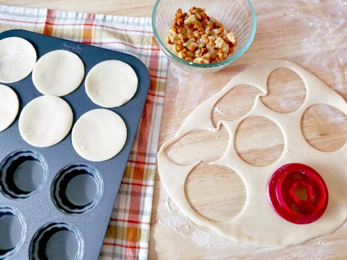 Mini Sea Salt Caramel Apple Pies step three