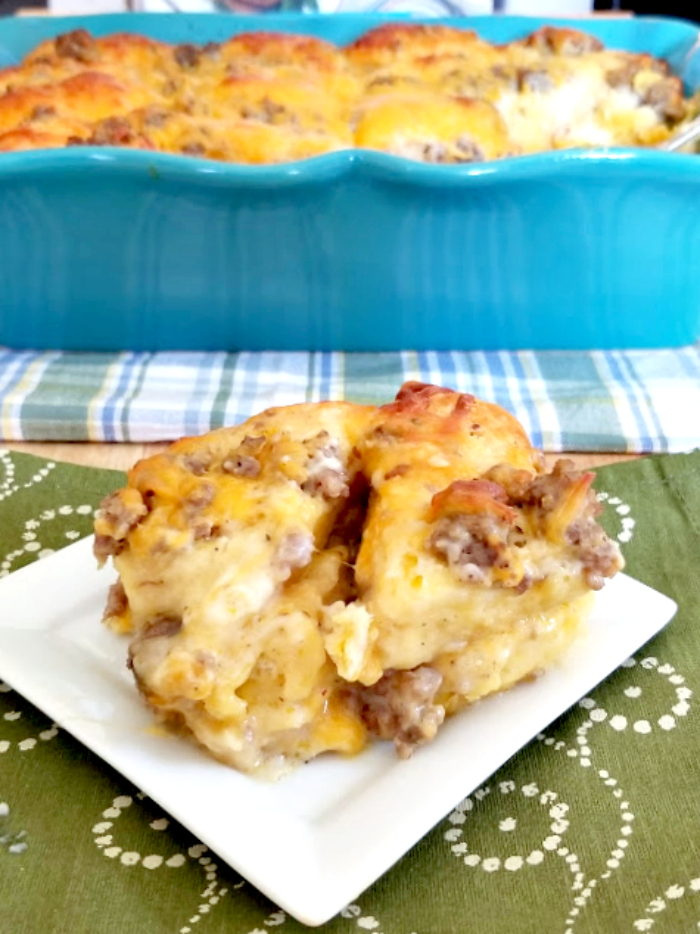 Sausage Biscuit Gravy Bake Recipe 9