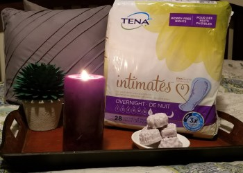Sleep Well At Night With TENA intimates® And My Lavender Essential Oils Bath Bomb Fizzies!