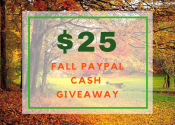 $25 Fall PayPal Cash Giveaway