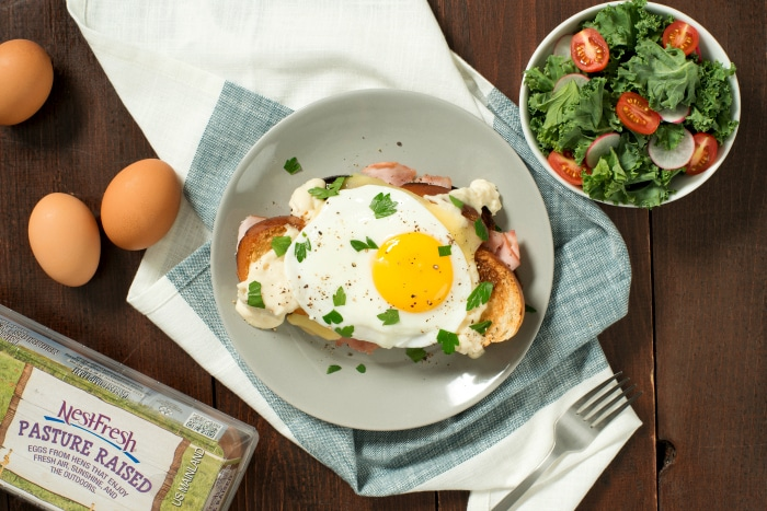 Holiday Recipes From NestFresh Eggs Classic Croque Madame