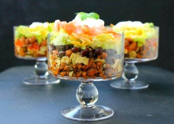 Easy Layered Beef Taco Salad
