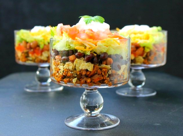 Easy Beef Layered Taco Salad