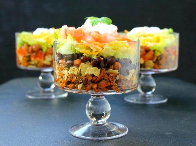 Layered Beef Taco Salad