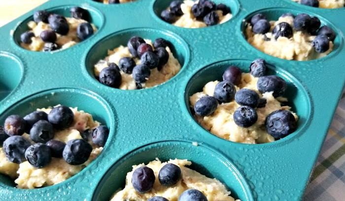 Blueberry-Banana Oat Breakfast Muffins step 7