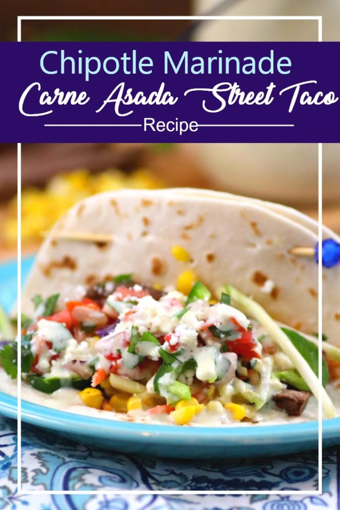 I made some heart healthy swaps for my Chipotle Marinade Carne Asada Street Tacos Recipe With Homemade Jalapeno Ranch Dressing and it is better than ever! #ad #MarinadesWithMazola #MakeItWithHeart