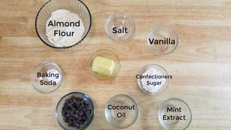 Chocolate Mint Keto Shortbread Cookies Recipe Ingredients
