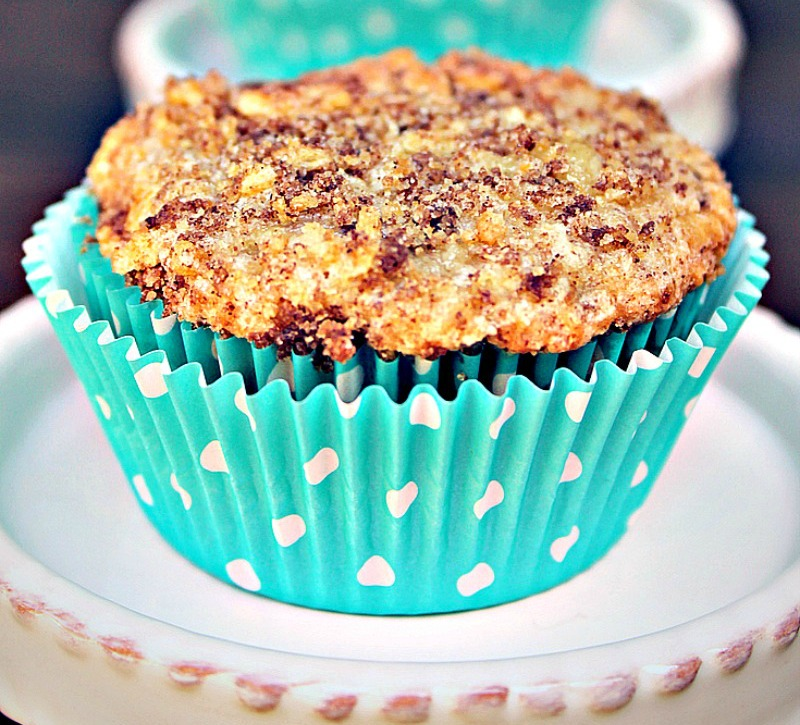 Easy Chocolate Chip Coffee Cake Muffin Recipe Kicking It With Kelly