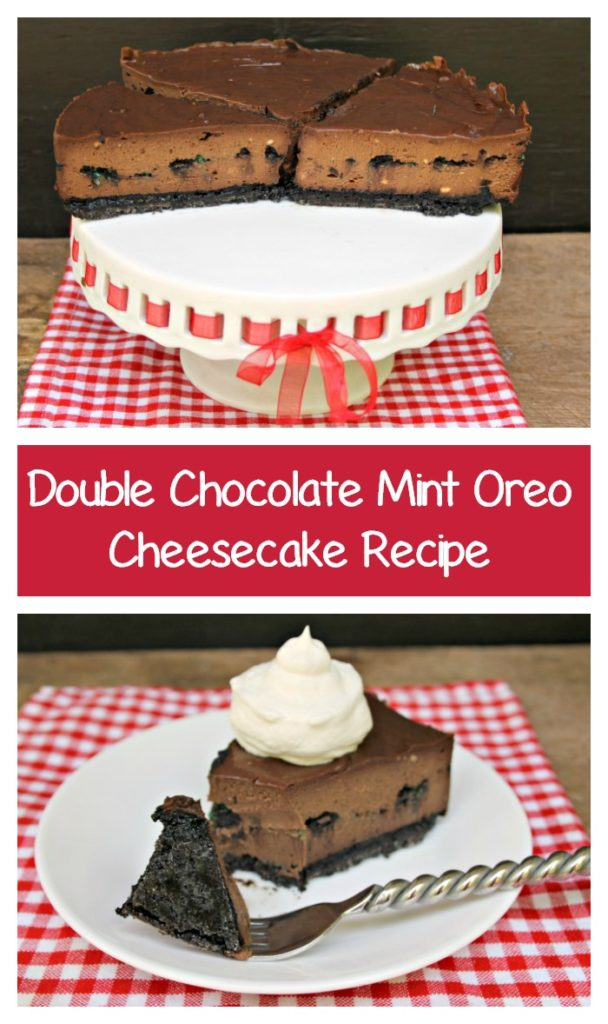 If you want your cheesecake to turn out perfectly every time, read on to get my secret and make this amazing Double Chocolate Mint Oreo Cheesecake Recipe for yourself! #ad