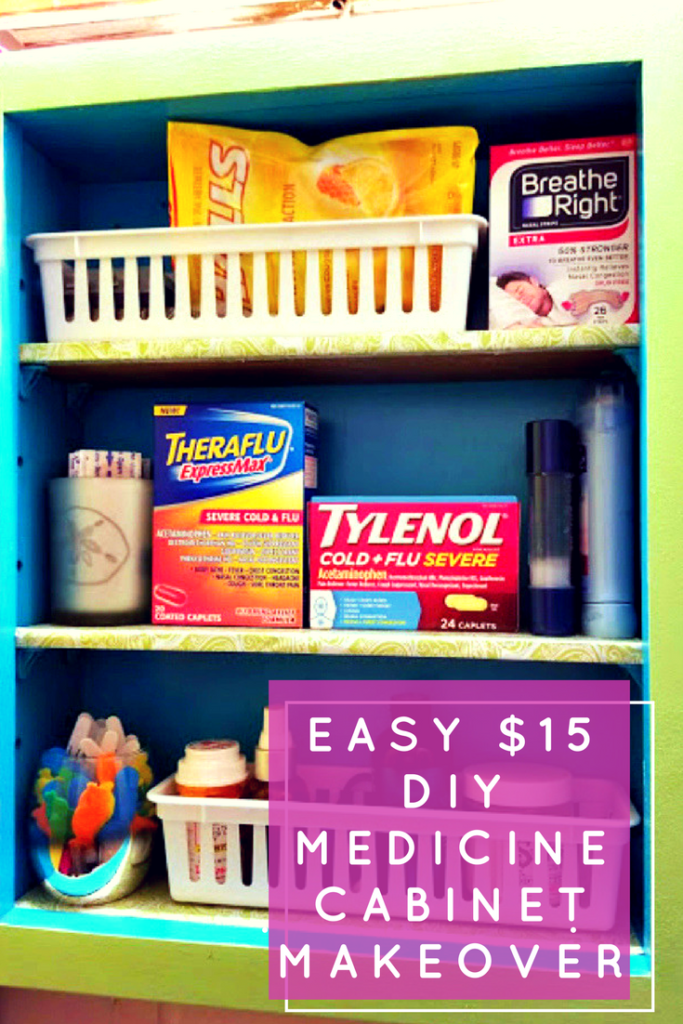 Cold and flu season is coming, so it is time to stock up on your favorite germ fighting products. Make room for them with an Easy $15 DIY Medicine Cabinet Makeover #ad #HappilyStocked