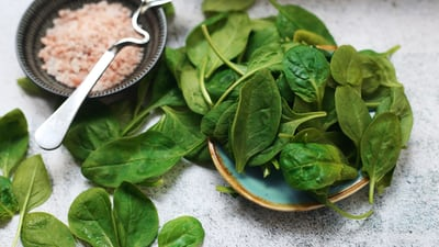 Foods that Promote Bone Health spinach