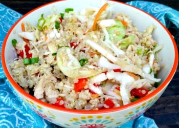 Healthy Asian Quinoa Chicken Salad Recipe 3