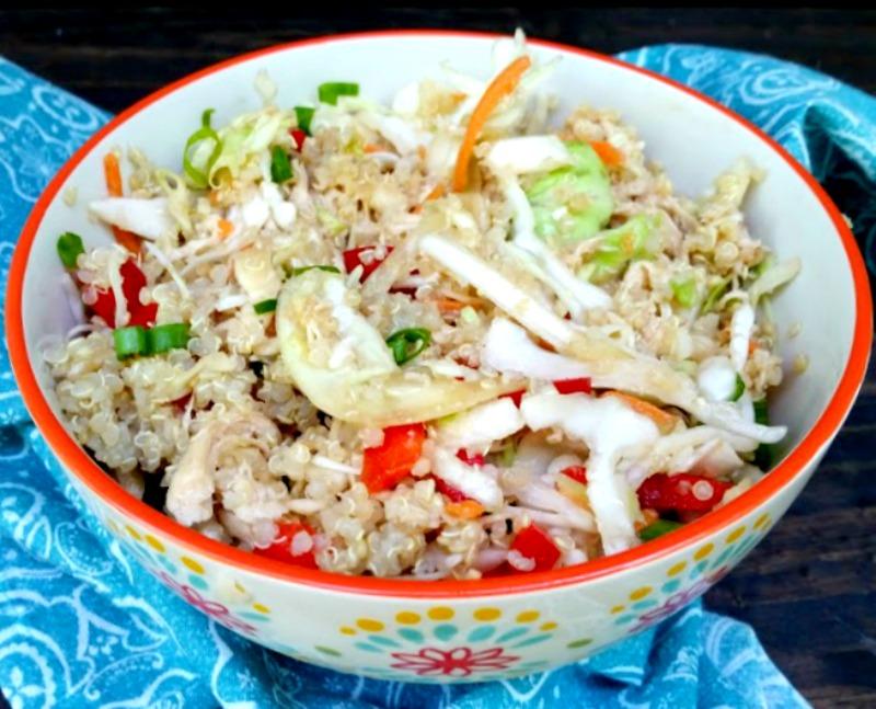 Healthy Asian Quinoa Chicken Salad Recipe 3