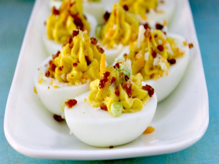 Bacon and Cheddar Deviled Eggs 2