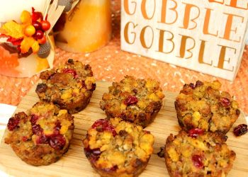 Thanksgiving Cranberry And Sausage Stuffing Muffins Recipe