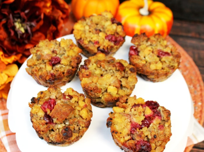 Cranberry And Sausage Herb Stuffing Muffins 2