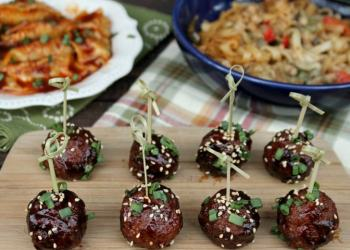 Slow Cooker Asian Sesame Turkey Meatballs And Ling Ling Asian Entrees Are A Winning Combination