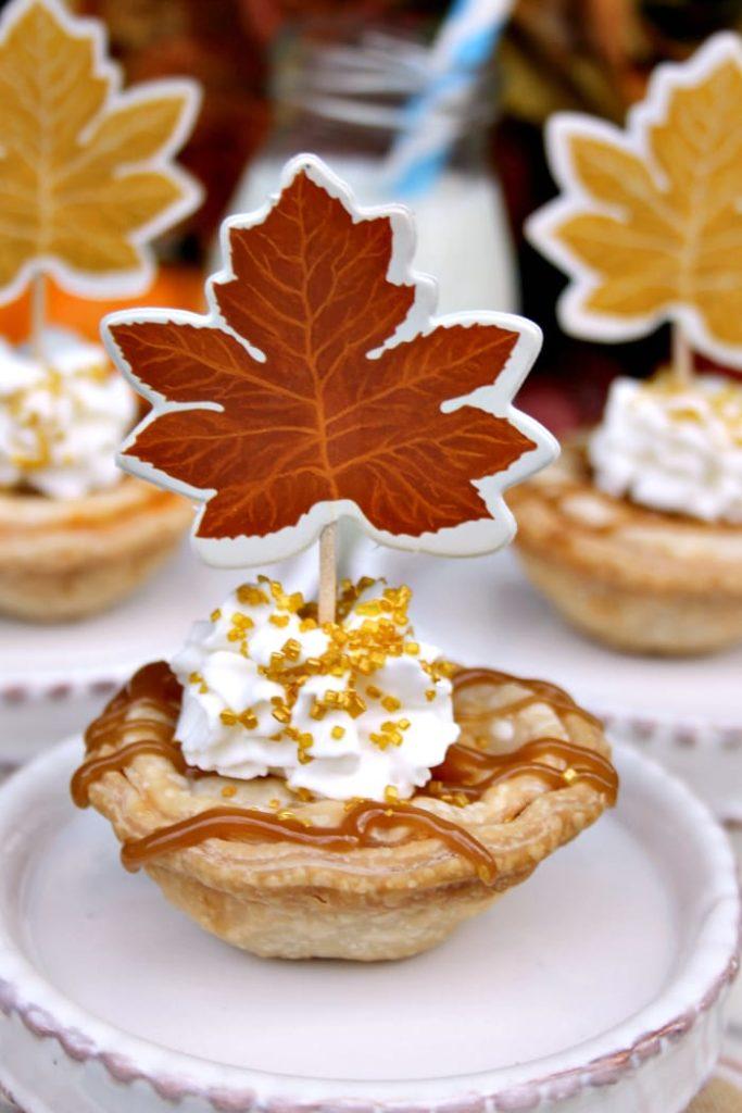 Mini Sea Salt Caramel Apple Pies 2