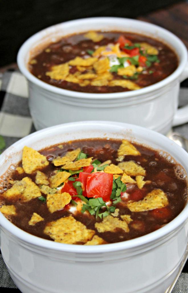 Loaded Vegan Black Bean Soup Recipe 3