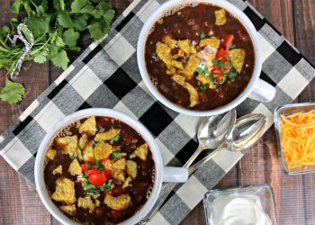 Loaded Vegan Black Bean Soup Recipe