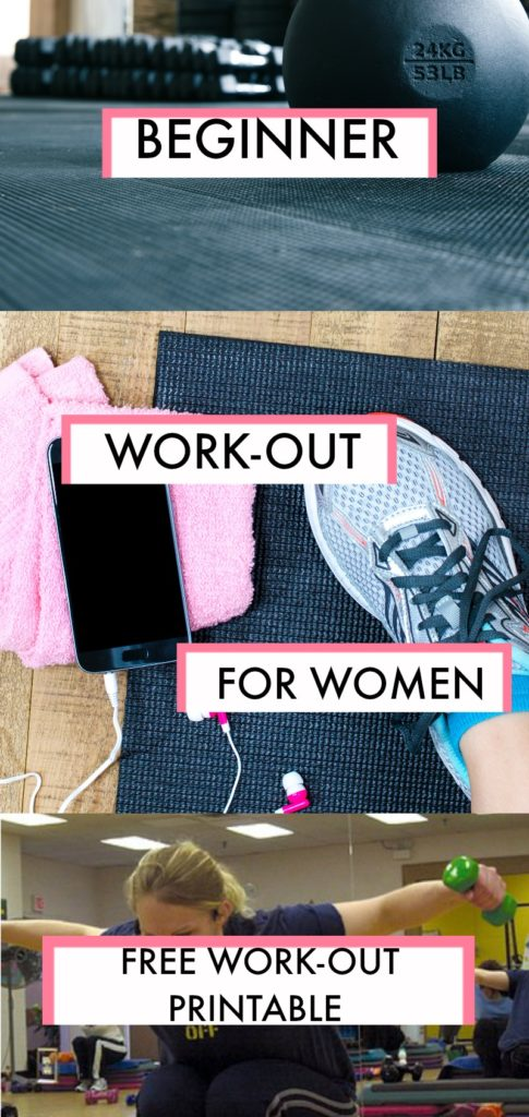 Ladies! Whether you have 10 pounds or more than 100 to lose, this beginner gym workout for women plus a free printable is the perfect place to start your journey!