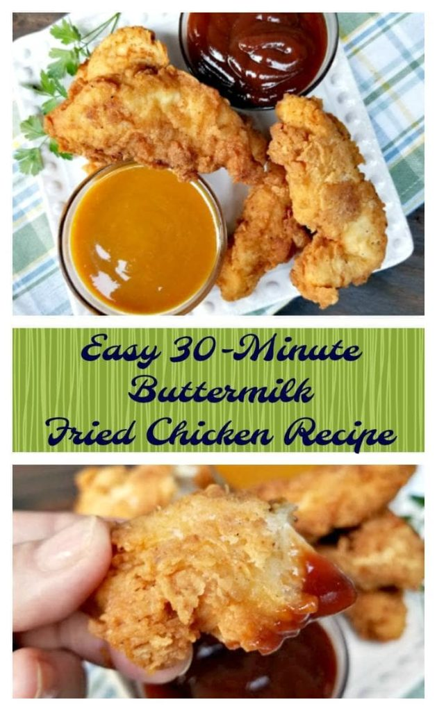 Yes, you really can feed your family a hot meal, even when time is short! This Super Easy 30-Minute Buttermilk Fried Chicken Recipe is an easy dinner recipe for families. Even for those busy days when you think you do not have time to cook.