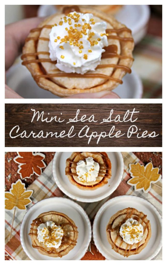What's more fun than baking your own pie? Eating a pie you baked yourself! Say no to store bought desserts and make these Mini Sea Salt Caramel Apple Pies instead! #ad @chicagometallic